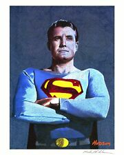 GEORGE REEVES SUPERMAN GICLEE ON ARCHIVAL WATERCOLOR PAPER