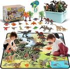 33 Pcs Dinosaur Toy Playset With Activity Play Mat, Realistic Dinosaur Figures,  For Sale