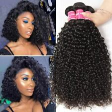 "12""*3 Jerry Curly 3Bundles 300G Virgin Human Hair Extensions for wholesale"