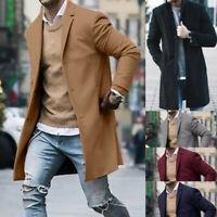 Men's Winter Warm Overcoat Wool Coat Trench Tops Outwear Peacoat Long Jacket CA