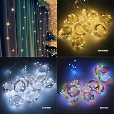 LED fairy lights garland curtain lamp Remote control USB string lights