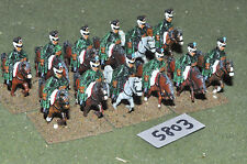 25mm napoleonic prussian light cavalry 12 cavalry (5803) metal painted