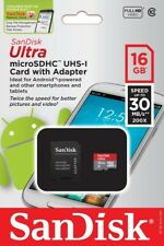 SanDisk 16GB Mobile Ultra Micro SD SDHC Class 10 Memory Card SDSDQUA-016G Lot 2