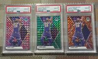 2019 Lebron James Panini Mosaic Pink Camo, Reactive Orange & Green Mosaic PSA 10