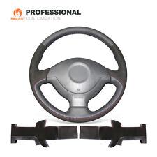 Black Genuine Leather Suede Steering Wheel Cover for Suzuki Jimny 2005-2014