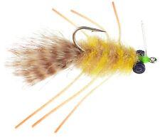 Fly Fishing Flies (Bonefish Redfish Permit Drum Snapper) Golden Sand Crab (x 6)