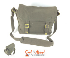Heavy Duty Canvas Messenger Shoulder Bag Webbing Motorbike Camping OLIVE Tote