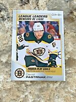 2020-21 O-Pee-Chee League Leaders David Pastrnak #585 NHL Hockey Card Bruins OPC