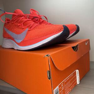 Nike 🔥 Vaporfly 4% Flyknit M12 W13.5 Crimson AJ3857-600 Preowned Sneaker W/ Box