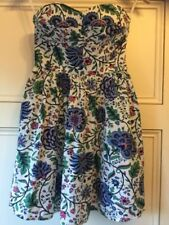 Jack Wills Floral Strapless Dress New With Tags - UK Size 8 - Party Wedding