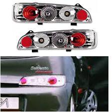 Fiat Seicento 1998-2005 Crystal Clear Chrome Rear Back Tail Lexus Lights - Pair