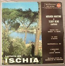 """Miranda Martino, Teddy Reno – Lettere Da Ischia Ep 7"""" 1960 con Inner VG++/NM"""