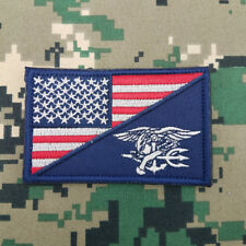 Tactical USA Flag/ Navy Seal Us Tactical  Military Morale Embroidered Hook Patch