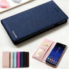 Silk Leather Magnetic Flip Wallet Case Cover For Samsung Galaxy S8 S10 S9 S20+