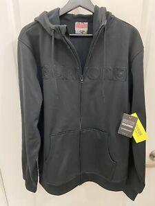 Mens Burton Hoodie Zip Jacket Large Black