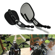 Edge Cut Black Motorcycle Cruiser Mirrors For Harley Davidson Touring Sportster