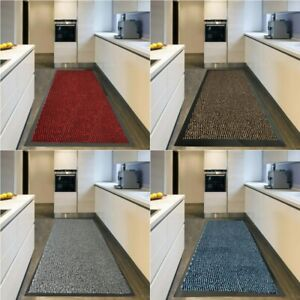 Rubber Backed Door Mat Non Slip Rug Kitchen Mat Heavy Duty Runner Outdoor Indoor