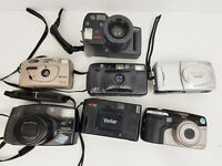 JOBLOT of Vintage 35mm Film Point and Shoot, Compact, Zoom  Cameras