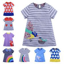 2020 New Summer Children's Clothing Cartoon Printed Girls' Dresses Short Skirt