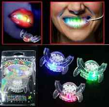 LED Light up Flashing Mouth Piece Glow Teeth For Halloween Party Rave Event HS0