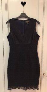 DESIGNER SAMPLE SALE....A Stunning LIPSY Navy Lace Dress. 8 - An Elegant Choice.