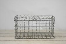 Vintage Decorative Wall Basket Metal Decorative Planter Wire Basket Storage