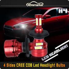 1040W 9003 H4 HB2 4 Sides LED Headlight High Low Beam CREE COB Chip 6000K White