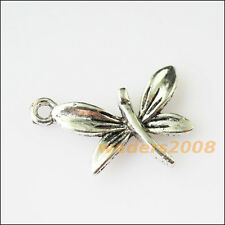 12 New Animal Dragonfly Leaf Tibetan Silver Tone Charms Pendants 15x22mm