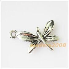 12 New Animal Dragonfly Leaf Tibetan Silver Tone Charms Pendants 15x22mm