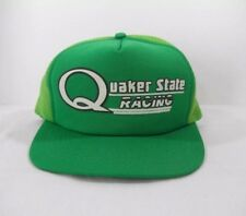 6f8ae9ea618 Vintage Green Quaker State Racing Snapback Hat Trucker Hat Cap by King  Sports