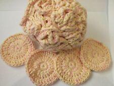 Large Shower Puff & 4 Crochet Face Scrubbies. 100 % Cotton FREE  P&P   (ylp)