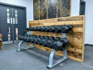 5kg-50kg hex dumbbell set with rack
