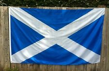 NATIONAL FLAG OF SCOTLAND ST ANDREWS SALTIRE 8 ft x 5 ft Polyester ONLY £7.89
