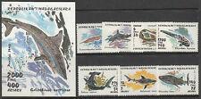 Stamps 1993 Madagascar local sharks set of 7 plus mini sheet MUH, nice thematics
