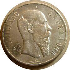elf Mexico Empire of Maximilian 1 Peso 1866 Mo