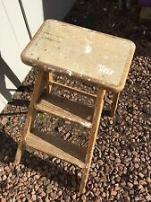 Vintage foldable wooden step ladder perfect photo prop, display unit, Ladders