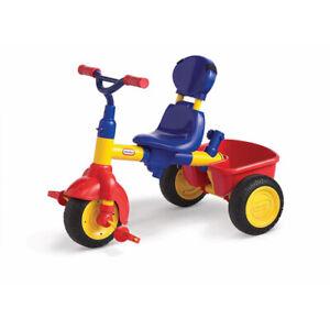 Kids' Tricycle Trike Toddlers Adjustable Large Storage Bucket (Primary) 4-in-1