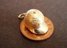 LOVELY 9CT GOLD ' RIDING HAT / HORSES HEAD ' OPENING CHARM
