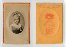 Beuscher, Morlaix, Jeune fille, Melle Noëla de Langlé, circa 1880 CDV vintage al