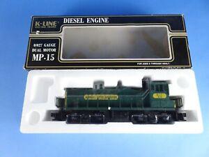 K-Lline Diesel Engine 0/027 Gauge Dual Motor MP-15 Kennecott Copper K-2252IC New