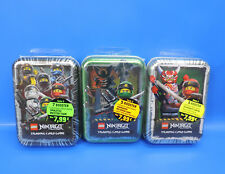Lego Ninjago Cartas Coleccionables Game Tin Box Negro Caja de Lata Verde