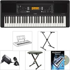 Yamaha PSR E363 Keyboard SET mit Sitz Bank + X-Stativ + Lern Buch/CD + NT + Pult