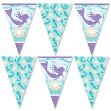 MERMAID party Bunting decorations 12 Flags