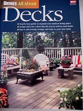 All About DECKS~Ortho~2000~Step-by-step guide~Design~Tips~Outdoor~Landscape~EUC