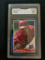 1988 Style Mike Trout Rated Rookie Card GRADED Gem MINT 10 PSA Alternative