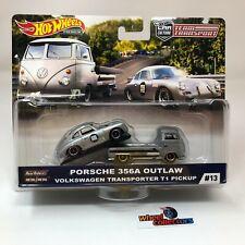 Porsche 356A Outlaw & VW Transporter T1 Pickup * Hot Wheels Team Transport