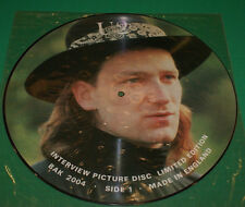 U2 limited edition interview Picture Disc Uk Lp Record Bak 2004 1980s Oop Nm-