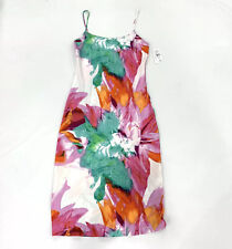 Natori Private Luxuries Silky Paraiso Watercolor Floral NightGown S New Satin