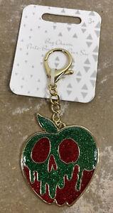 NEW Disney Flair Snow White Poison Apple Green & Red Bag Charm Key Chain