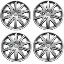 "Brookstone Valencia  Car Wheel Trim Set 14"" Silver Set Of 4 Hub Caps Covers"